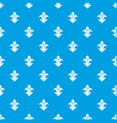 origami flower pattern seamless blue vector image