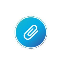 paper clip in circle icon flat design style paper vector image