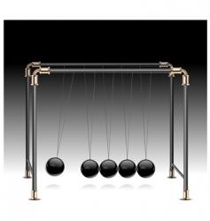 Pendulum on black vector