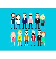 Pixel People vector
