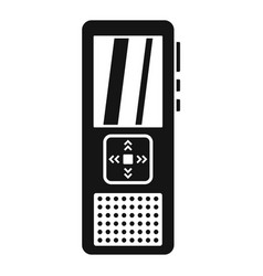 Police voice recorder icon simple style vector