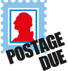 postage marks and stamps for postcards and postal vector image