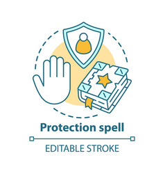 Protection spell concept icon occultism vector