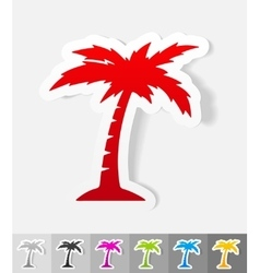 realistic design element palm vector image