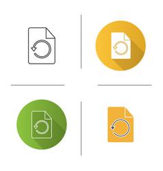 Restore page icon vector
