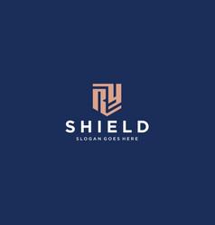 ry shield logo vector image