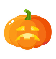 Sad frustrated pumpkin jack-o-lantern cartoon vector