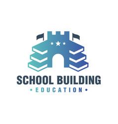 school building book logo vector image