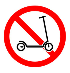 Scooter parking is prohibited on a red vector