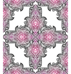 seamless texture with a hamsa and boho pattern on vector image
