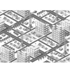 seamless urban plan isometric vector image