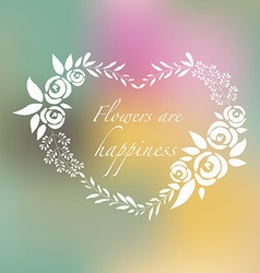 Silhouette flower set of roses and herbs vector