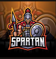 spartan esport mascot logo vector image