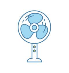 stand floor fan color icon vector image