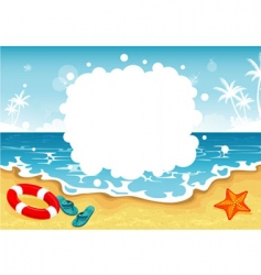 summer beach tropic vector image