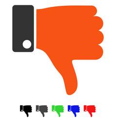 Thumb down flat icon vector
