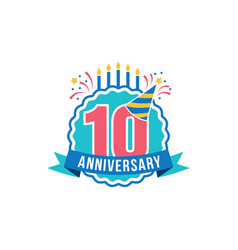 anniversary numbers set vector image