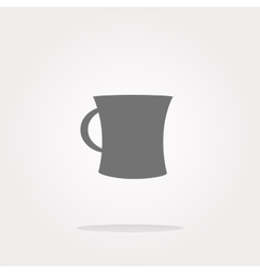 Coffee mug - icon isolated vector image