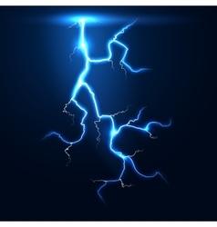 Lightning thunder storm background vector image vector image
