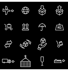 line logistic icon set vector image vector image