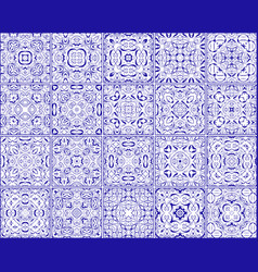 simple set of ornate tiles vector image