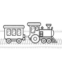 Train coloring book for kids vector image vector image