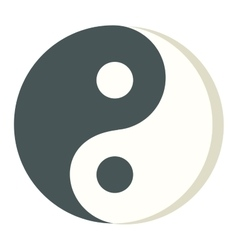 Yin yang icon isolated vector