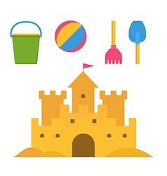 Children Sand Activities Set vector image