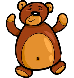 cute teddy bear cartoon vector image vector image