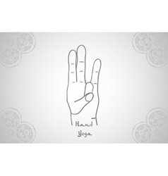 Element yoga surya mudra hands vector
