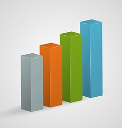 Financial colorful bar graph icon vector image