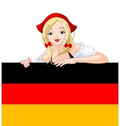oktoberfest german girl vector image vector image
