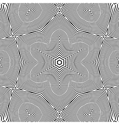 optical art abstract star seamless deco pattern vector image vector image