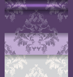 royal ornament fabric damask pattern texture vector image