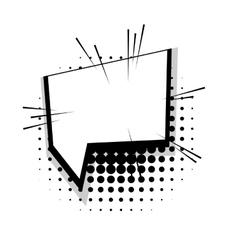 Template comic speech square line bubble vector image