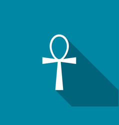 ankh with a long shadow vector image