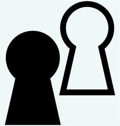 Keyhole symbol vector image vector image