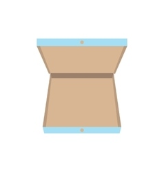 Open pizza box icon vector image