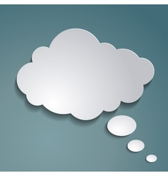 paper cloud for text vector image vector image