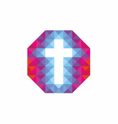 christian logo vector image vector image