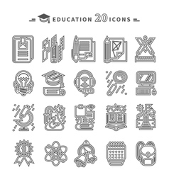 Education Icons on White Background vector image vector image