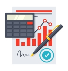 Financial Statement Concept vector image vector image