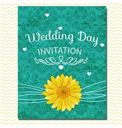 floral invitation greeting card vector image vector image