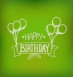 Hand-drawn greeting card Happy birthday vector image vector image