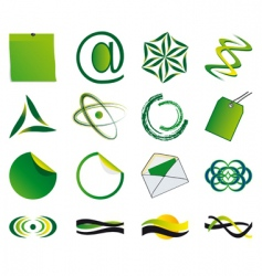 set of symbols vector image vector image