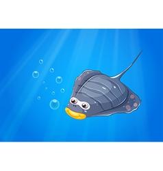 A manta ray under the sea vector image