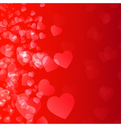Abstract background flame and hearts vector image