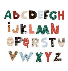 abstract decorative alphabet creative kids font vector image