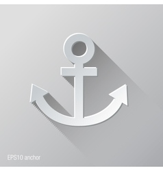 anchor flat icon design vector image
