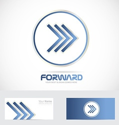 Arrow forward logo concept vector image